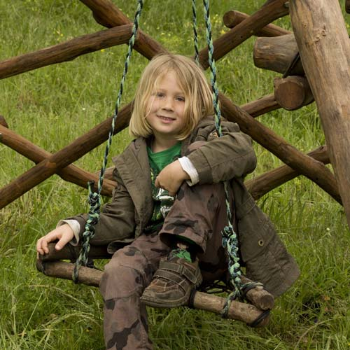 wooden swing for children