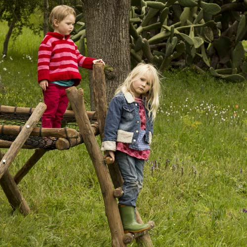 wooden jungle gym for children